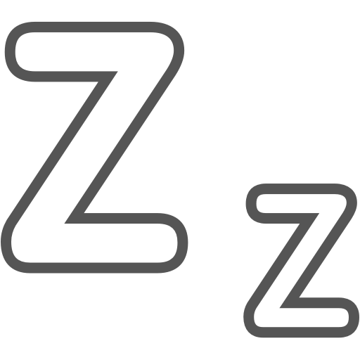Undisturbed sleep icon
