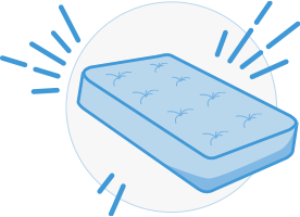 Find a mattress, mattress illustration